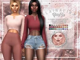 Endless Sims 4 CC — alaina-lina-cc: Chrissy Top • Cropped zip front...