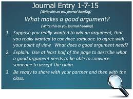 argumentative essay journal entry write this as you journal argumentative essay 2 journal