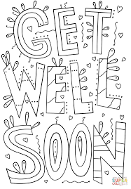 Small Picture Get Well Soon Doodle coloring page Free Printable Coloring Pages