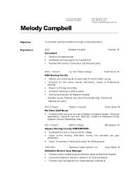 Nursing Job Resume Pelosleclaire Com