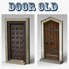 door old royalty free 3d model preview no 1
