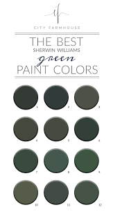 Sherwin Williams Green Color Chart The Best Sherwin Williams Green Paint Colors Credenza