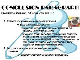 the persuasive essay ppt  39 conclusion