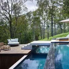 infinity pool design backyard. Modern Backyard Rectangular Infinity Pool In Brisbane With Decking. Design M