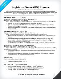 Sample Resumes For Nurses Resume Of A Nurse Resume Example For