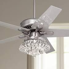 lamp lamps plus chandeliers inspirational 52 windstar ii steel crystal light kit ceiling fan gallery lamps plus ceiling fans table lamp shades