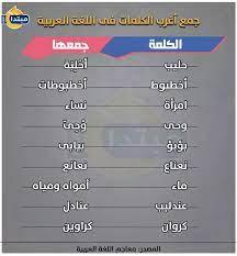 اللغة_العربية | إنفوجراف.. جمع أغرب الكلمات فى اللغة العربية - اللغة العربية