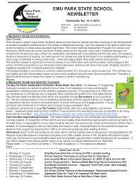 EMU PARK STATE SCHOOL NEWSLETTER