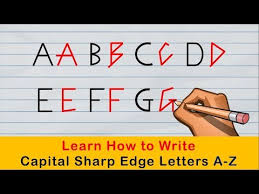English Handwriting Practice How To Write Beautiful Sharp Edge Capital Handwriting