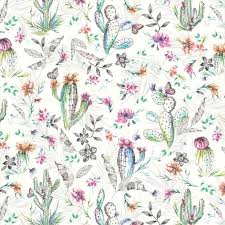 Patterned Wallpaper Unique Holden Decor Cacti Cactus Pattern Wallpaper Desert Flower Butterfly