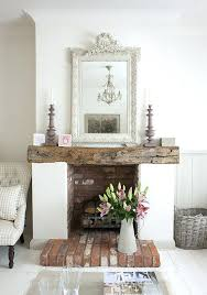 shabby chic fireplace painted cottage shabby chic