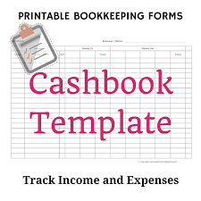 cashbook template