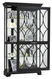 contemporary curio display cabinets ridgeway contemporary large black curio cabinet 8014