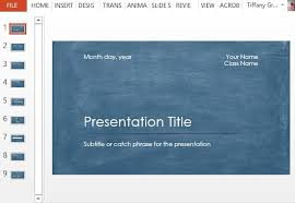 powerpoint biography student scientific report powerpoint template