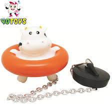 rubber animal bath milk cow drain stopper toy get latest