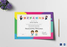 Preschool Graduation Certificate Editable Preschool Certificate Template 16 Free Word Pdf Psd Format