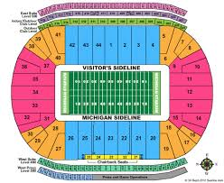 Superdome Seating Chart With Row Numbers Actual Michigan Seating Chart Rows Ann Arbor Big House