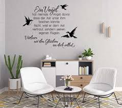 Wandaufkleber Spruch Ein Vogel Hat Niemals Angst Wandtattoos