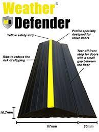 garage door floor sealWeather Defender Heavy Duty 12m Garage Door Floor Seal Strip with