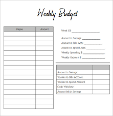 Weekly Budget Forms Printable Weekly Budget Worksheet Under Fontanacountryinn Com