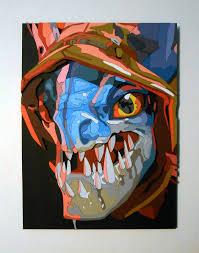 made a portrait of slark from dota 2 on my scroll saw album on