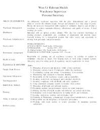 Warehouse Worker Resume Warehouse Worker Resume Skills Of Warehouse