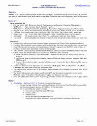 Quality Analyst Resume Unique Design Process Analyst Resume Unique