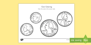 Below is a list of our numbers coloring pages. U S Coins Template For Kids Elementary Resources