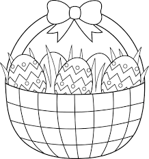 Easter Basket Coloring Pages Download And Print For Free Easter