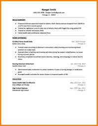 Cv For Elder Care Home Perfect Resume Format
