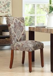 com paisley fabric dining room chairs add style to your dining room furniture a straight back upholstered chair turns kitchen dining chairs into