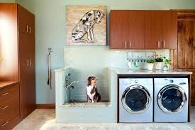 outdoor laundry room dog showers laundry room rustic with beige floors rolling outdoor trash cans outdoor
