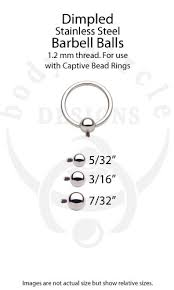 Comprehensive Captive Ring Size Chart Huge Diameter Steel