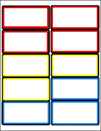 Labels With Border Border Labels For The Classroom In Primary Secondary Colors 6 Pages 2 Sizes