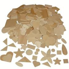 small blank wooden shapes