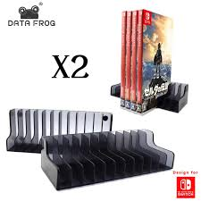 Data Frog <b>2 Pcs</b> Game Card <b>Box Storage Stand</b> CD Disk <b>Holder</b> For ...