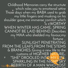 Childhood Memories Carry Quotes Writings By Sagnik Banerjee