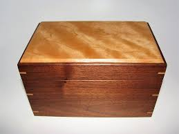 small wood keepsake box cherry and walnut 7 5 x 4 75 x 4 75 handcrafted wooden memory box