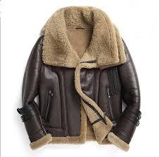 2018 winter men s fashion sheep fur sheepskin leather surface wool lining double collar design biker jacket coat
