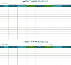 Biweekly Work Schedule Template Monthly Payment Calendar Bill ...