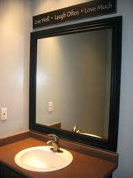 Framing A Large Mirror Full Size Of Bathroom Ideas For Framing Large Mirror Frame Brown