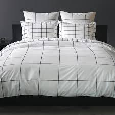 black white duvet cover. Beautiful Black Grid Black Duvet Cover In White