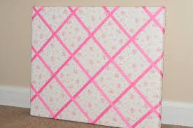 How To Make A Memo Board Fabric Covered How to Make a Ribbon Memo Board Sippy Cup Mom 1