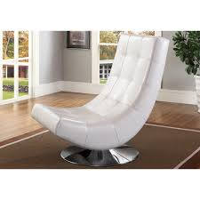 Upholstered Swivel Chairs For Living Room Baxton Studio Baxton Studio Elsa Modern And Contemporary White