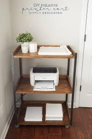 diy home office. Industrial DIY Printer Cart Diy Home Office