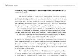 sample essay about essay on greenhouse effect some can produce greenhouse gases that trap heat and aid global warming through the greenhouse effect before we dig deep into the causes of greenhouse