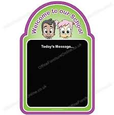 Welcome Kids Chalkboard Pink Welcome Signs