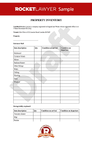 Property Inventory Template Free Download Inventory Property Inventory Inventory Template