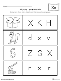 Worksheet downloads come in a variety of formats including pdf. Picture Letter Match Letter X Worksheet Myteachingstation Com