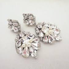 teardrop wedding earrings crystal bridal earrings wedding jewelry chandelier earrings swarovski crystal earrings vintage earrings